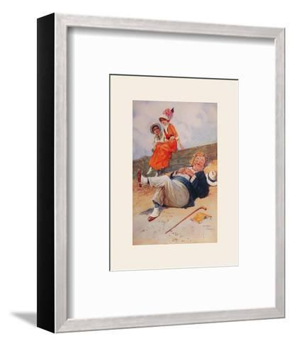 The Eavesdropper-Lawson Wood-Framed Art Print