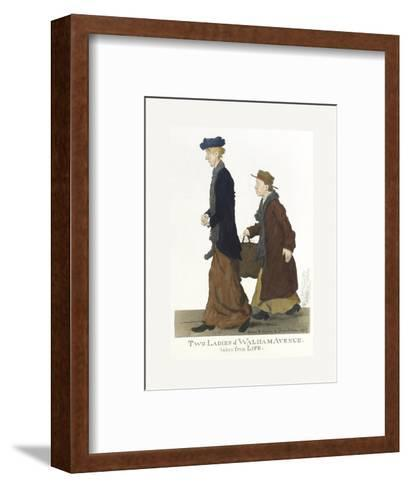 Two Ladies of Walham Avenue-George Belcher-Framed Art Print