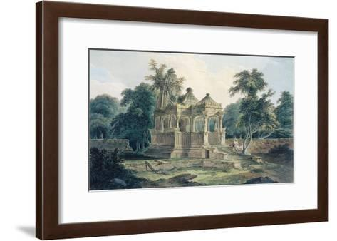 A Hindu Temple in the Fort of Rohtas-Thomas & William Daniell-Framed Art Print