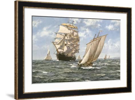 Ahoy!-Montague Dawson-Framed Art Print