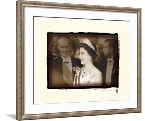 Queen on Tour In Austria, 1969 II-British Pathe?-Framed Art Print