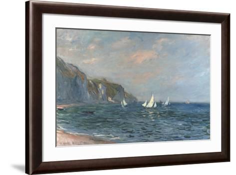 Falaises et Voiliers a Pourville-Claude Monet-Framed Art Print
