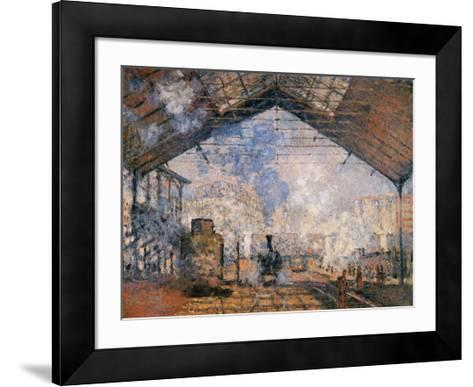 Le Gare du Nord-Claude Monet-Framed Art Print