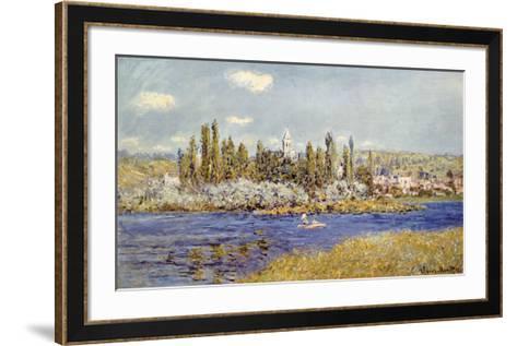 The Seine at Vetheuil-Claude Monet-Framed Art Print
