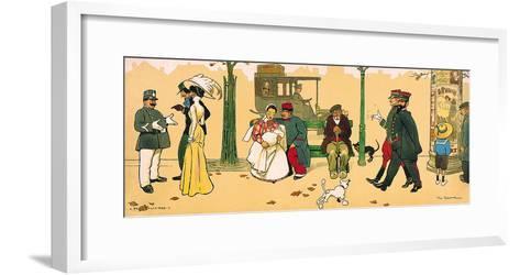 A Paris Boulevard I-Tom Browne-Framed Art Print