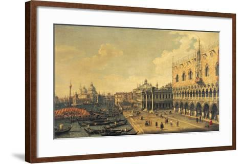 View of the Molo, Venice-Canaletto-Framed Art Print