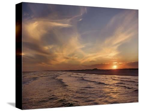 Corpus Christi Sunset-Mike Jones-Stretched Canvas Print