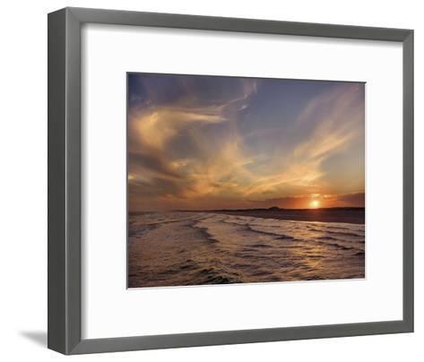 Corpus Christi Sunset-Mike Jones-Framed Art Print