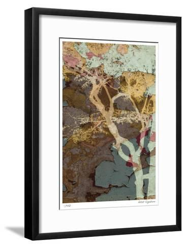 Weathered Trees in Blue 1-Mj Lew-Framed Art Print