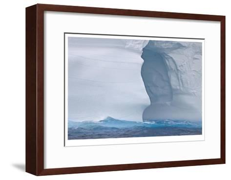 Towering Iceberg Sculptures-Donald Paulson-Framed Art Print