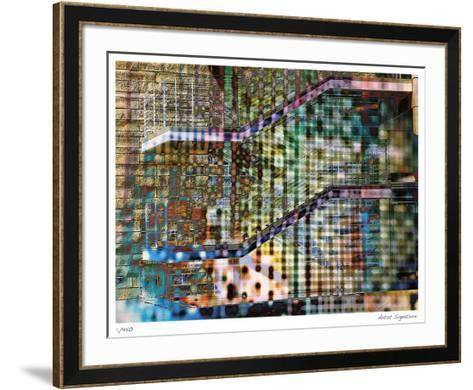 Staircase Abstract-Stephen Donwerth-Framed Art Print