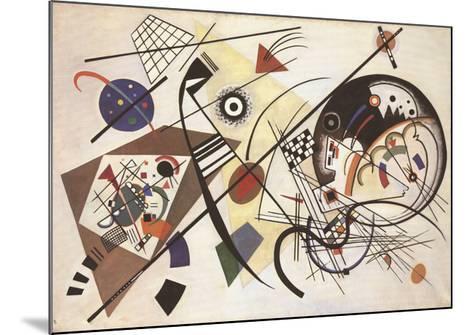 Durchgehender Strich-Wassily Kandinsky-Mounted Art Print