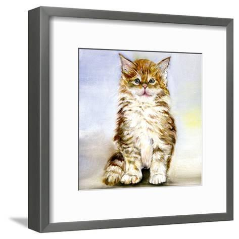 Chaton Brun-Clauva-Framed Art Print