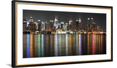 Manhattan Lights-Deng-Framed Art Print