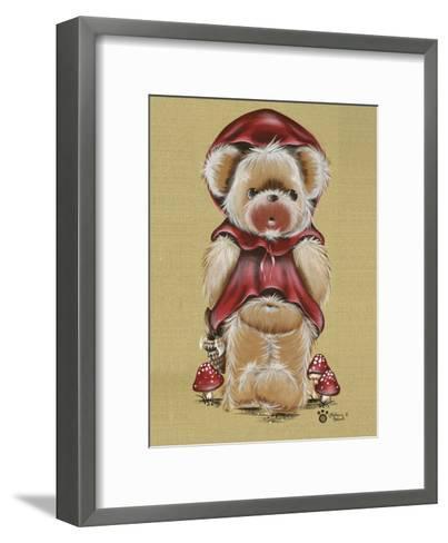 Nounours Chaperon Rouge-Stephanie Holbert-Framed Art Print