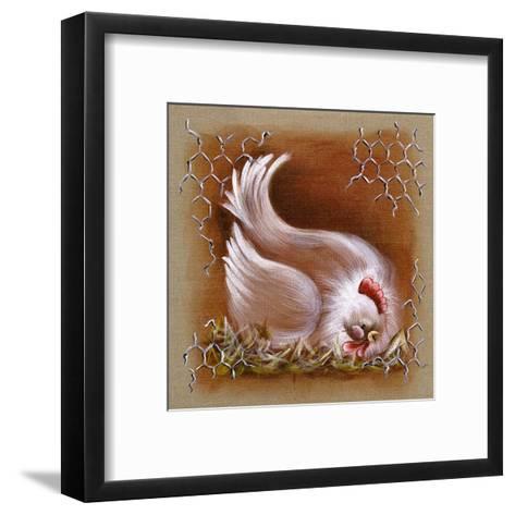 Poule Tete Basse-Stephanie Holbert-Framed Art Print