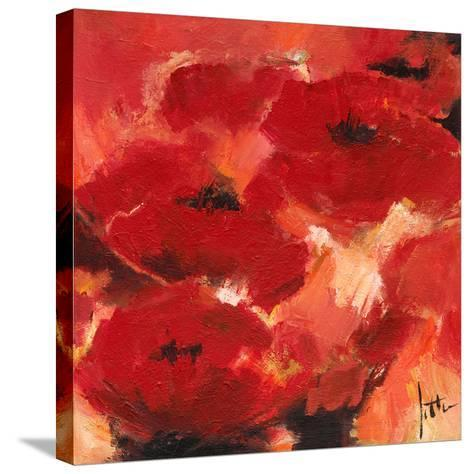Abstract Flowers II-Jettie Roseboom-Stretched Canvas Print
