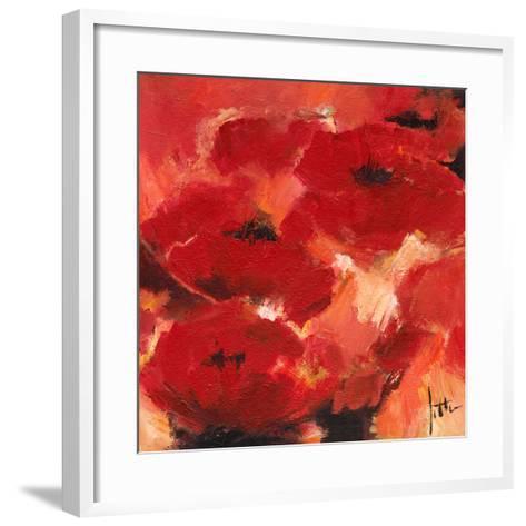 Abstract Flowers II-Jettie Roseboom-Framed Art Print