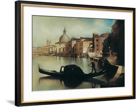 Sul Canal Grande-A. Sgarbossa-Framed Art Print