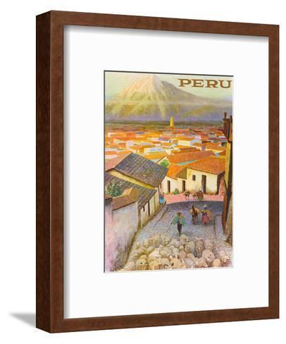 Cusco, Peru c.1950?s-F^C^ Hannon-Framed Art Print