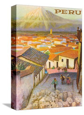 Cusco, Peru c.1950's-F^C^ Hannon-Stretched Canvas Print