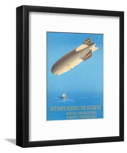 Deutsche Zeppelin Reederei c.1935-Ottomar Anton-Framed Art Print
