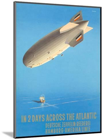Deutsche Zeppelin Reederei c.1935-Ottomar Anton-Mounted Art Print