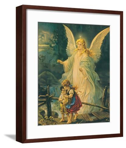 The Guardian Angel-The Victorian Collection-Framed Art Print