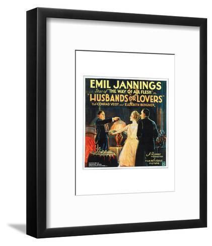 Husbands Or Lovers - 1924 I--Framed Art Print