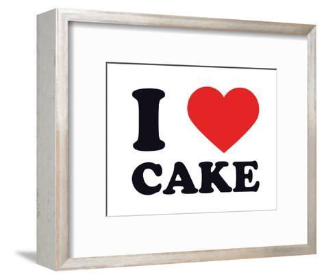 I Heart Cake--Framed Art Print