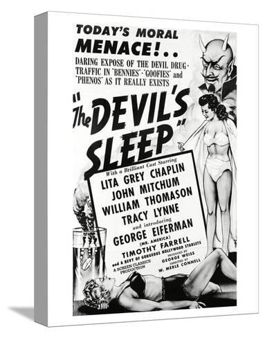 The Devil's Sleep - 1951--Stretched Canvas Print
