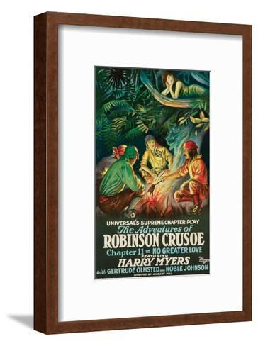 The Adventures Of Robinson Crusoe - 1922--Framed Art Print