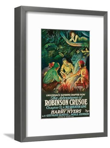 The Adventures Of Robinson Crusoe - 1922--Framed Art Print