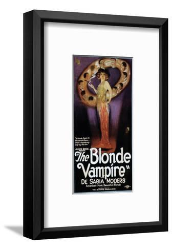 The Blonde Vampire - 1922--Framed Art Print
