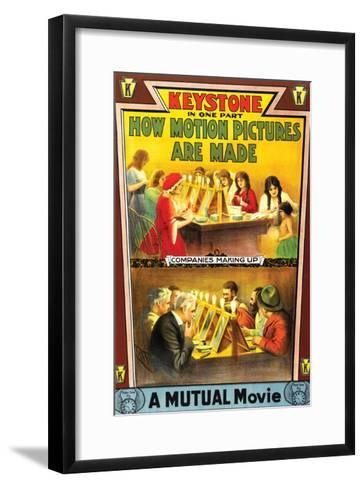 How Motion Pictures Are Made - 1914--Framed Art Print