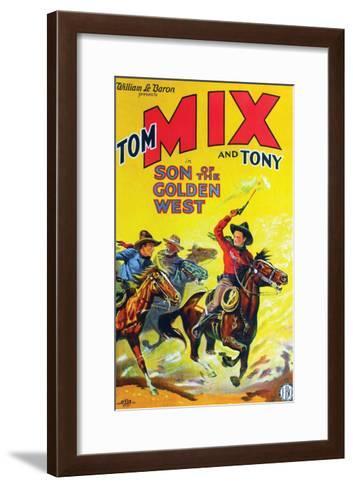 Son Of The Golden West - 1928--Framed Art Print