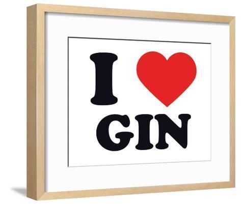 I Heart Gin--Framed Art Print