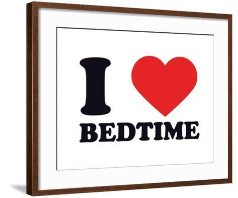 I Heart Bedtime--Framed Art Print