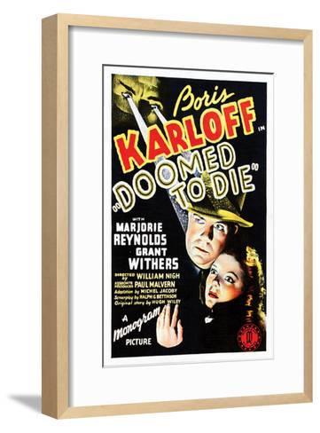 Doomed To Die - 1940--Framed Art Print