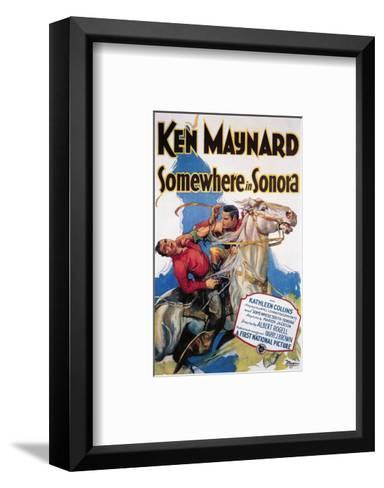Somewhere In Sonora--Framed Art Print