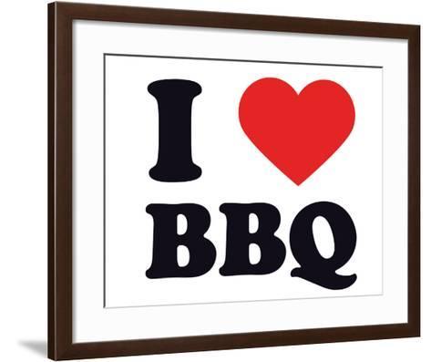 I Heart BBQ--Framed Art Print
