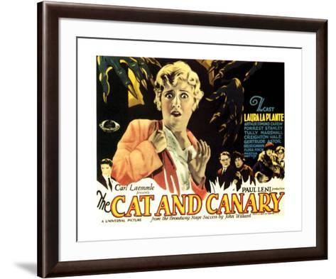The Cat And The Canary - 1927 I--Framed Art Print