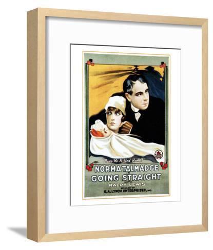 Going Straight - 1916--Framed Art Print