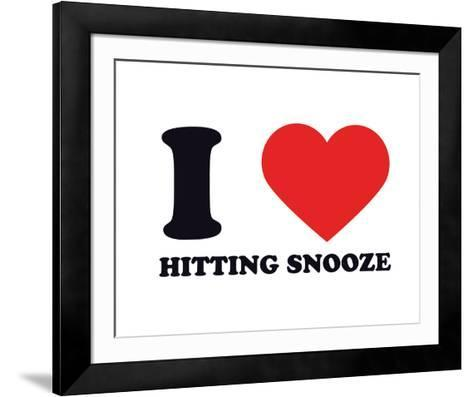 I Heart Hitting Snooze--Framed Art Print