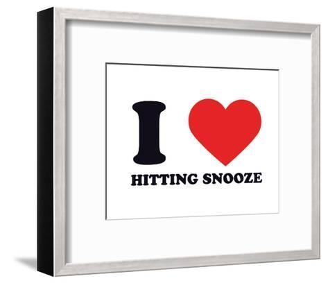 I Heart Hitting Snooze--Framed Art Print