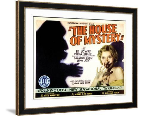 House Of Mystery - 1934 II--Framed Art Print