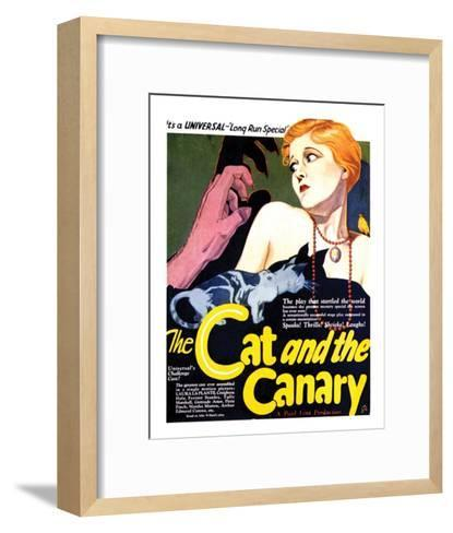 The Cat And The Canary - 1927 II--Framed Art Print