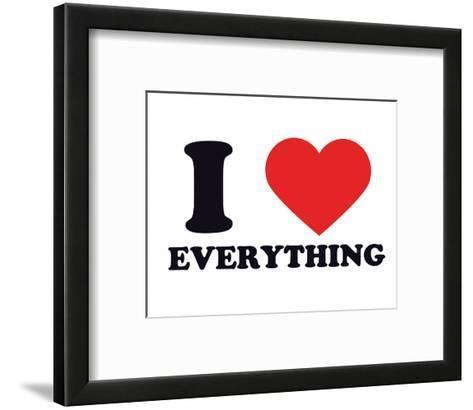 I Heart Everything--Framed Art Print