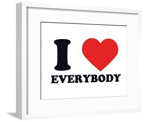 I Heart Everybody--Framed Art Print