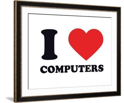 I Heart Computers--Framed Art Print